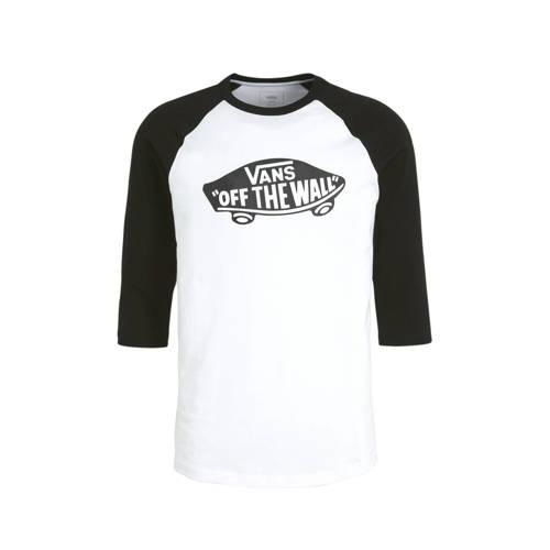 VANS T-shirt wit/zwart