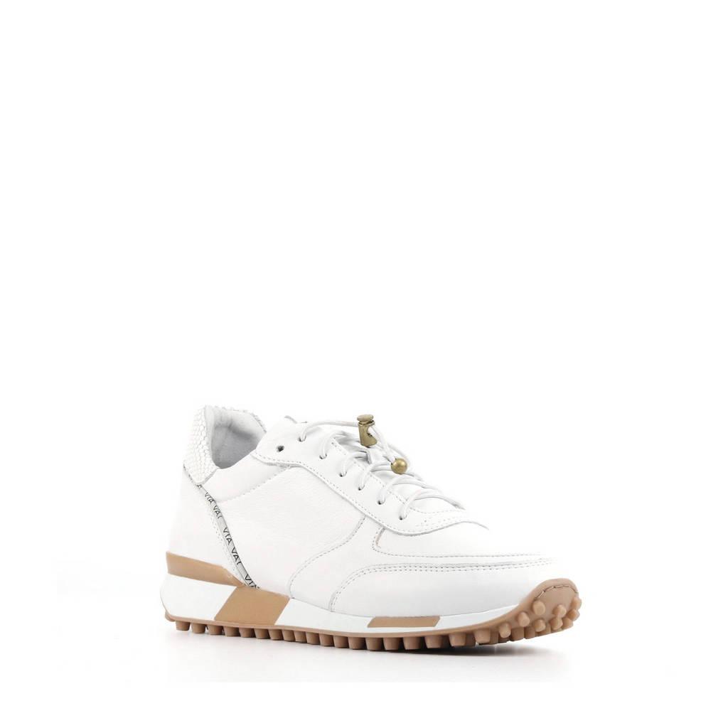 Via Vai 5409059   leren sneakers wit, Wit