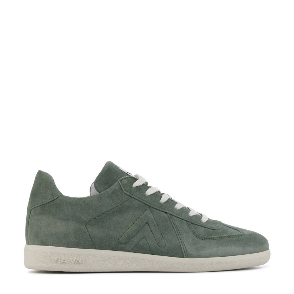 Via Vai 5406011  suède sneakers groen, Groen/grijsgroen