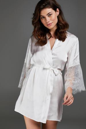 satijnen kimono Lily wit