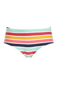 ESPRIT Women Beach gestreept hipster bikinibroekje geel/lichtblauw/rood, Geel/lichtblauw/rood