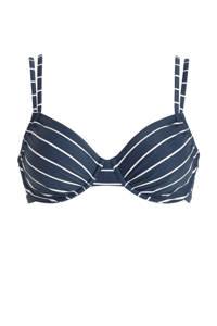 ESPRIT Women Beach gestreepte beugel bikinitop donkerblauw/wit, Donkerblauw/wit