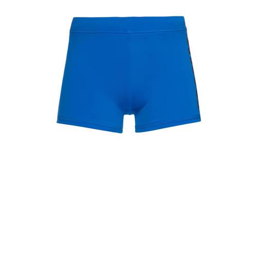 Protest zwemboxer Karsten blauw