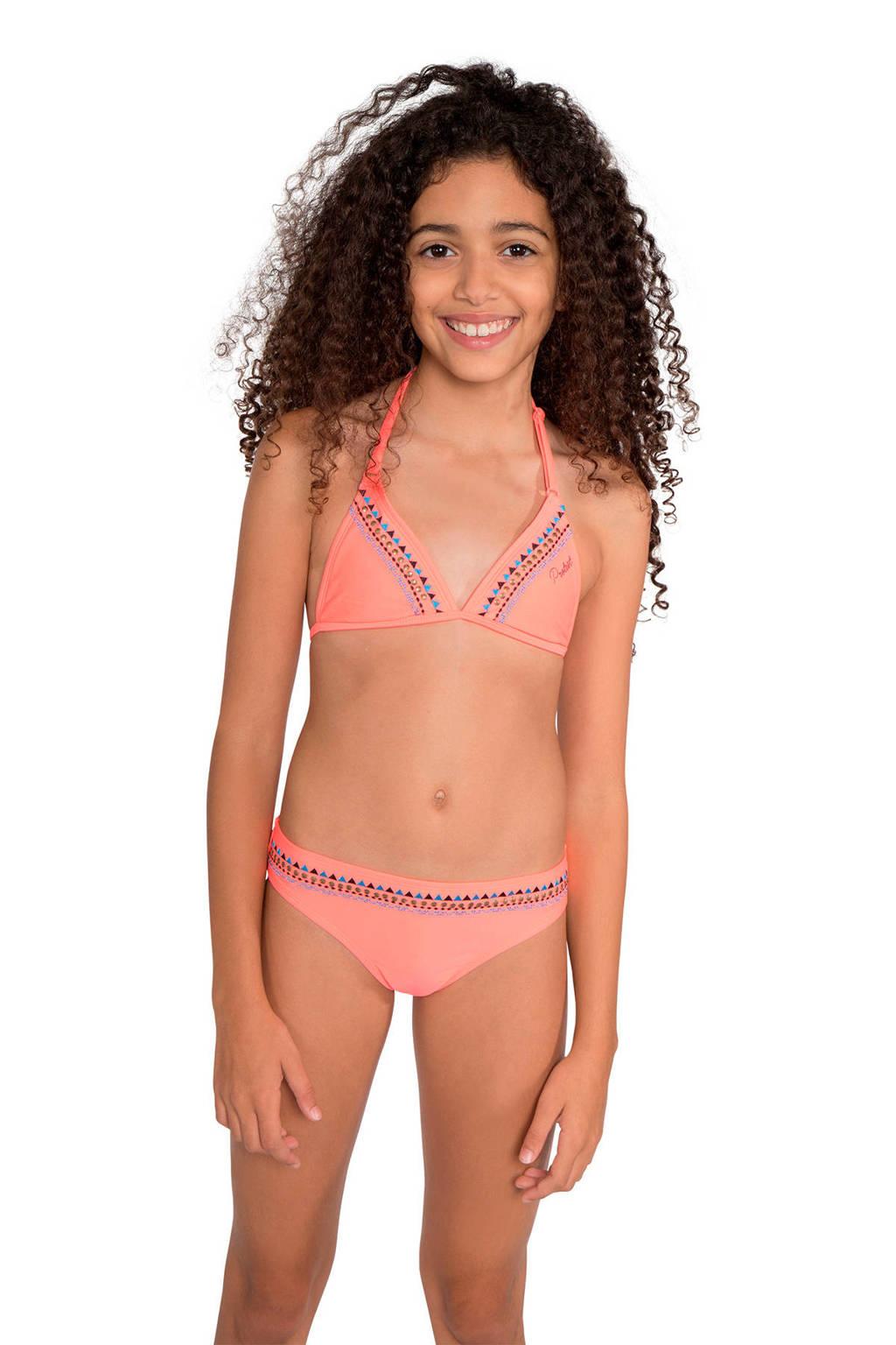 Protest triangel bikini Friska JR met borduursels roze, Roze
