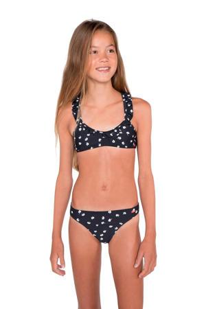 gebloemde bikini Farah JR zwart/wit