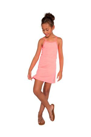 jersey jurk Sylvia JR met contrastbies roze