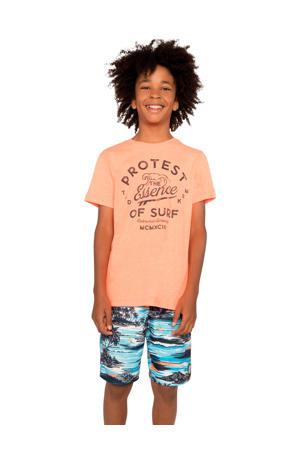 T-shirt Chaz JR met printopdruk oranje