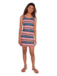 Protest jersey jurk Lane JR met all over print blauw/roze, Blauw/roze