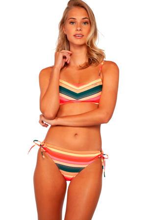 gestreept bikinibroekje MM Cabel roze/geel/grijs