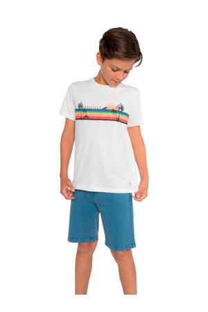 T-shirt Mathias JR met printopdruk wit