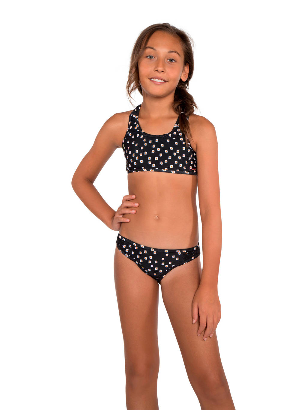 Protest bikini Fenya JR met all over print zwart/wit, Zwart / Wit