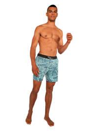 Protest zwemshort Matar met all over print lichtblauw, Lichtblauw
