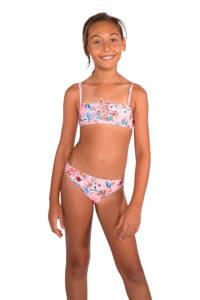 Protest gebloemde crop bikini Alec JR roze, Roze