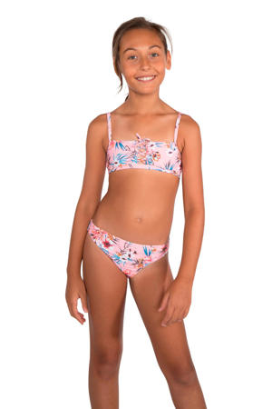 gebloemde crop bikini Alec JR roze