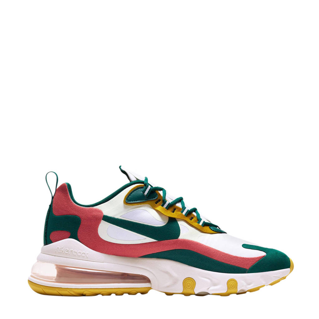 Nike Air Max 270 React sneakers wit/turquoise/roze/geel