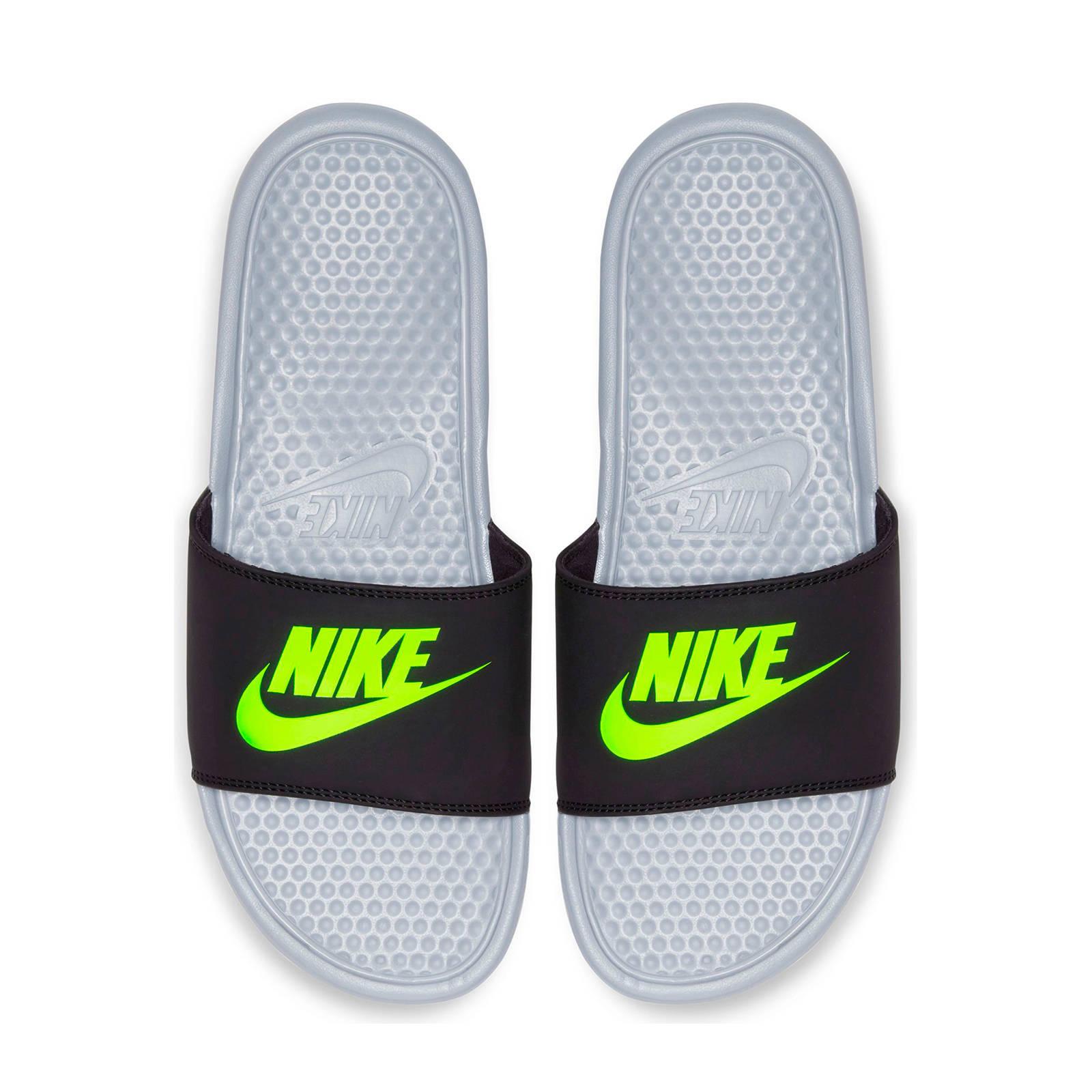 Nike Benassi JDI slippers zwart/neon
