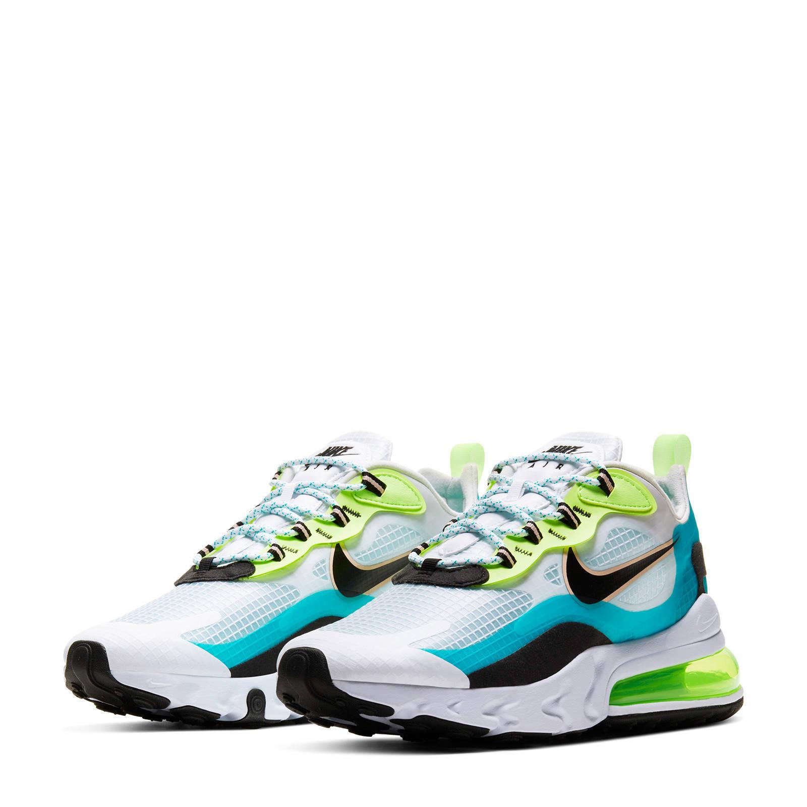 Nike Air Max 270 React sneakers aquazwartgroen   wehkamp