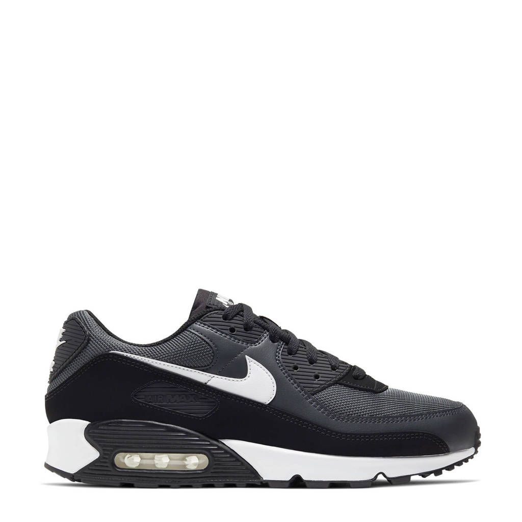 Nike Air Max 90 sneakers antraciet/zwart/wit, Antraciet/zwart/wit