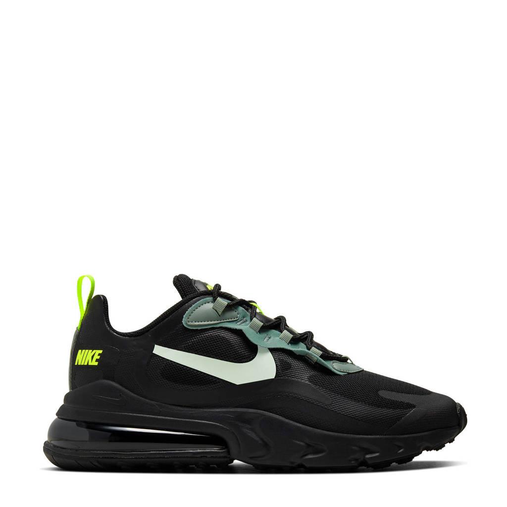 Nike Air Max 270 React sneakers zwart/groen/wit, Zwart/groen/wit