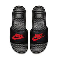 Nike Benassi JDI  slippers zwart/rood, Zwart/rood