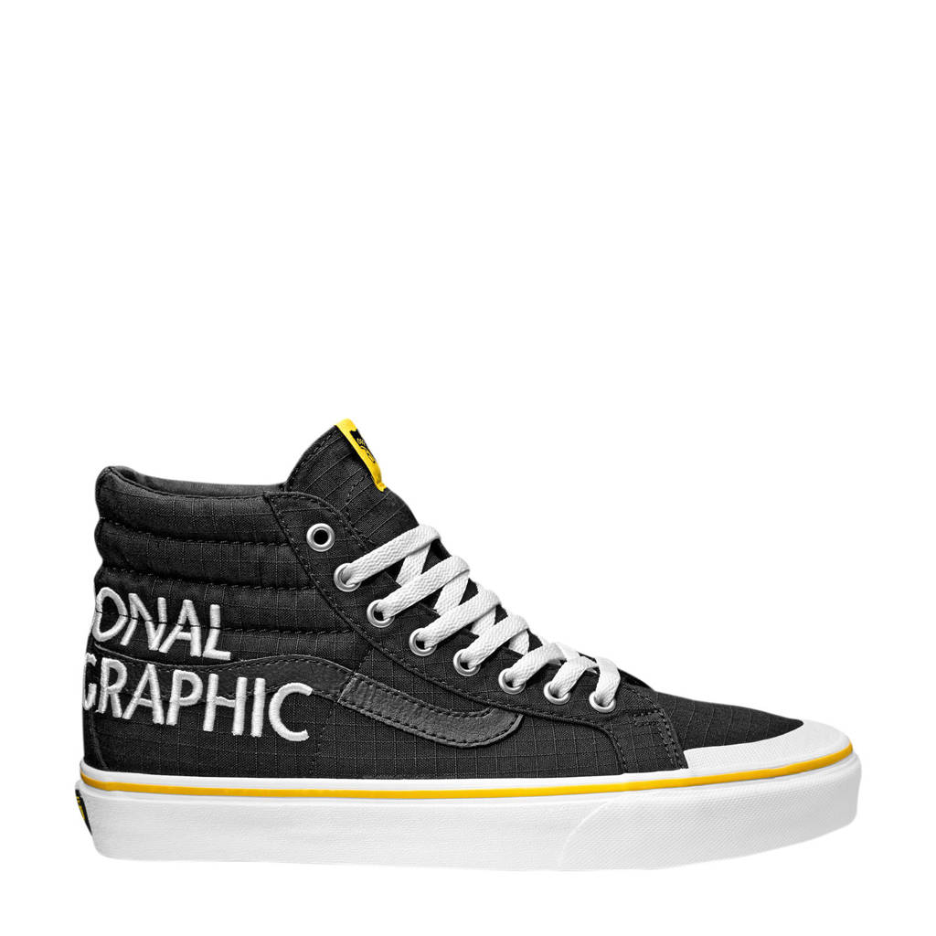 VANS X National geographic SK8-Hi Reissue 138  sneakers zwart, Zwart/geel