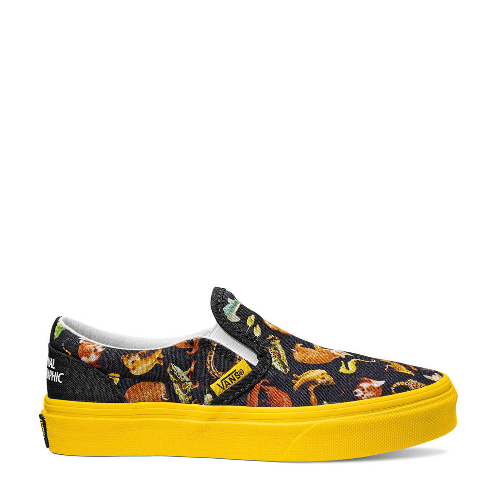 VANS X National Geographic Classic Slip-On National Geographic sneakers zwart/geel, Zwart/geel