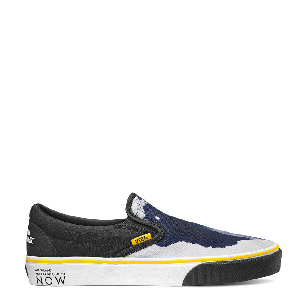VANS X National Geographic Classic Slip-On  sneakers donkerblauw/wit, Donkerblauw/wit