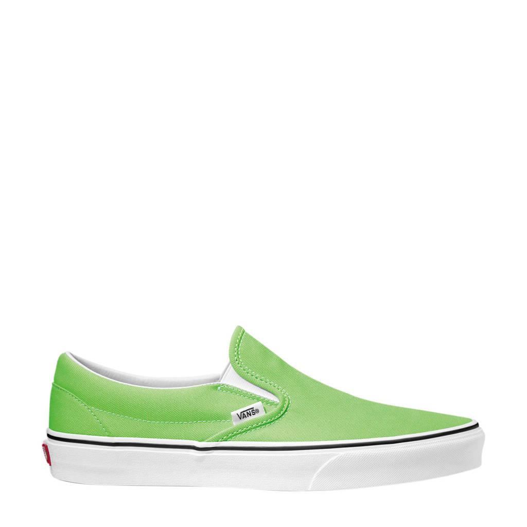 VANS Classic Slip-On  sneakers groen/wit, Groen/wit