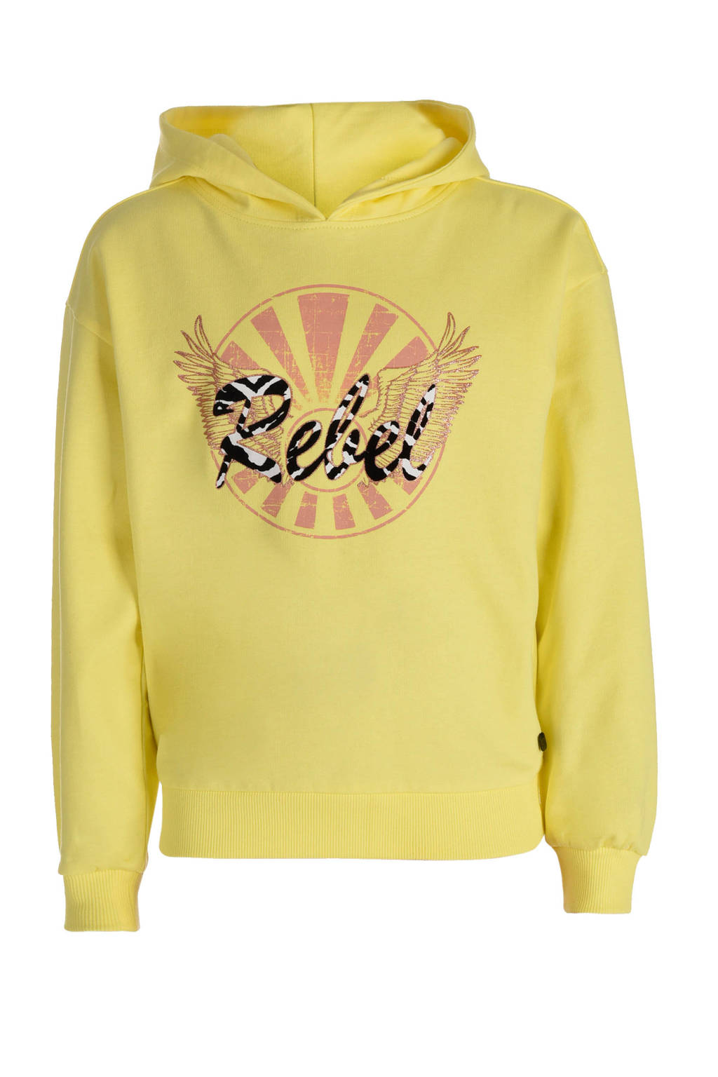 JILL MITCH hoodie Tirsa met printopdruk geel, Geel