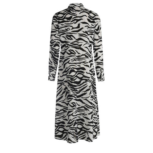 JILL MITCH semi-transparante blousejurk met zebrap