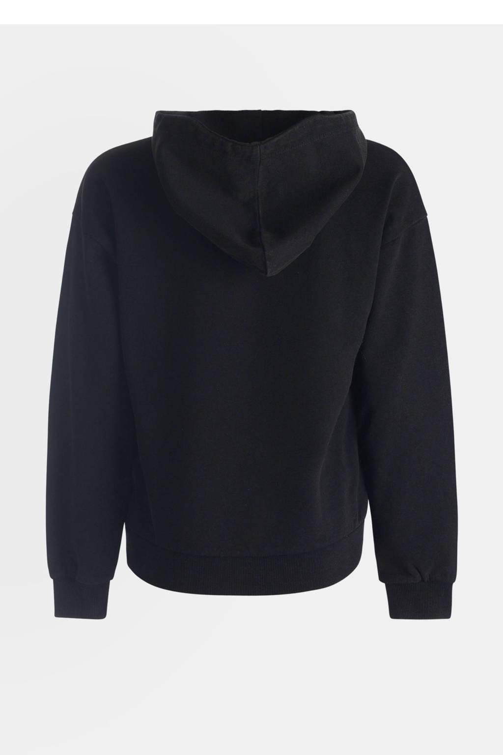 JILL MITCH hoodie Tirsa met printopdruk zwart, Zwart