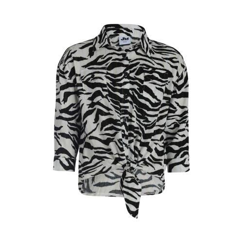 JILL MITCH blouse met zebraprint zwart/wit