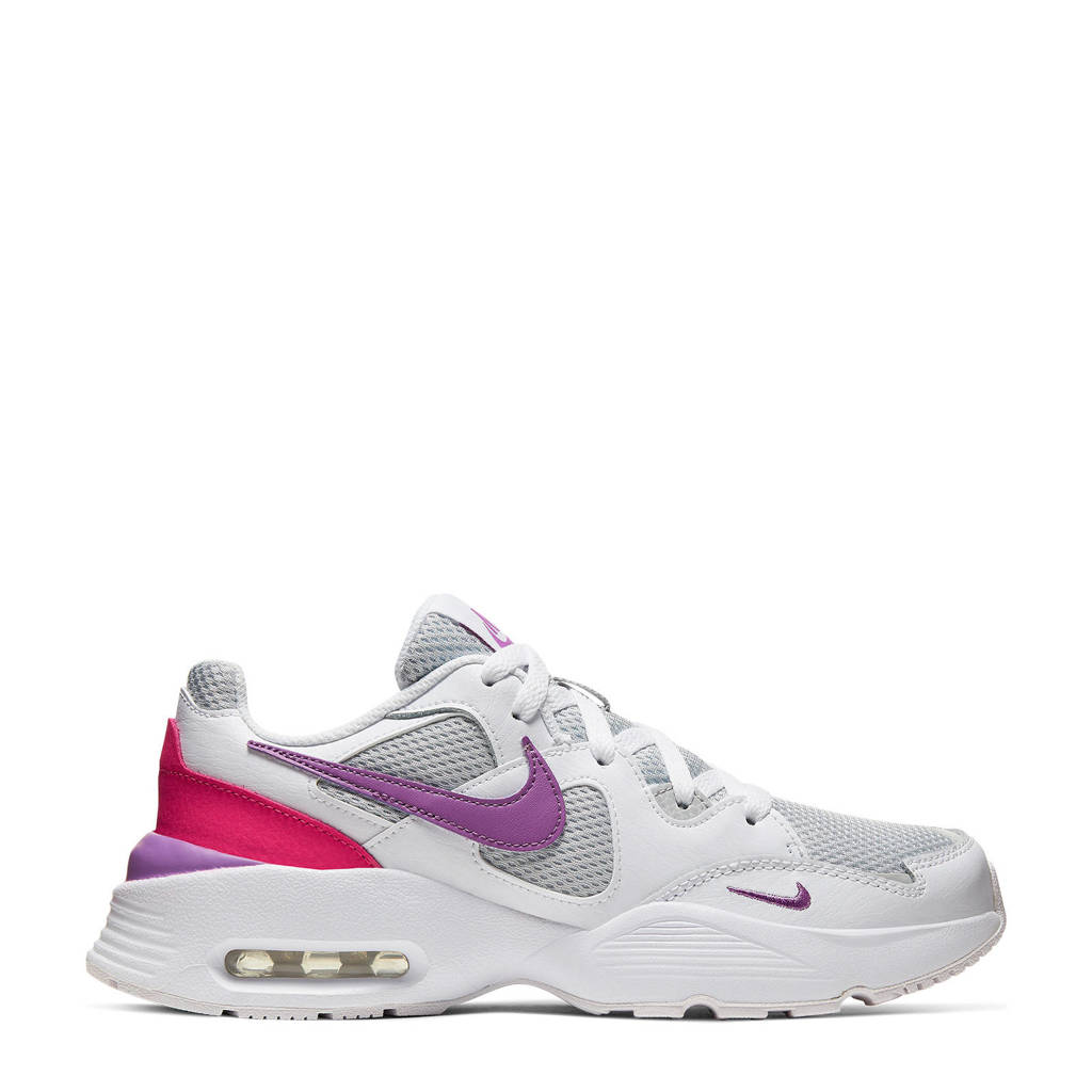 Nike Air Max Fusion  sneakers wit/grijs/paars, Wit/grijs/paars/fuchsia