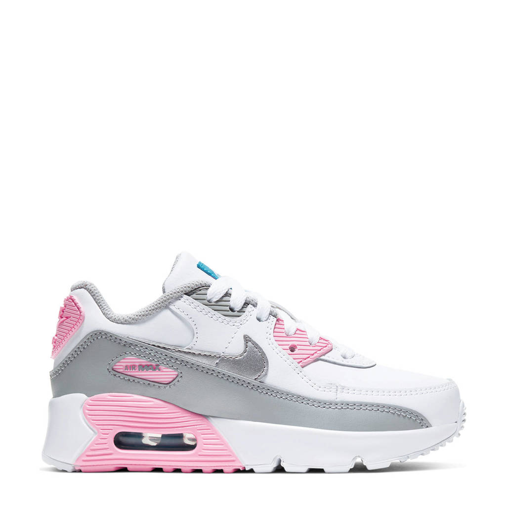 Nike Air Max 90 LTR (GS) sneakers wit/grijs/roze