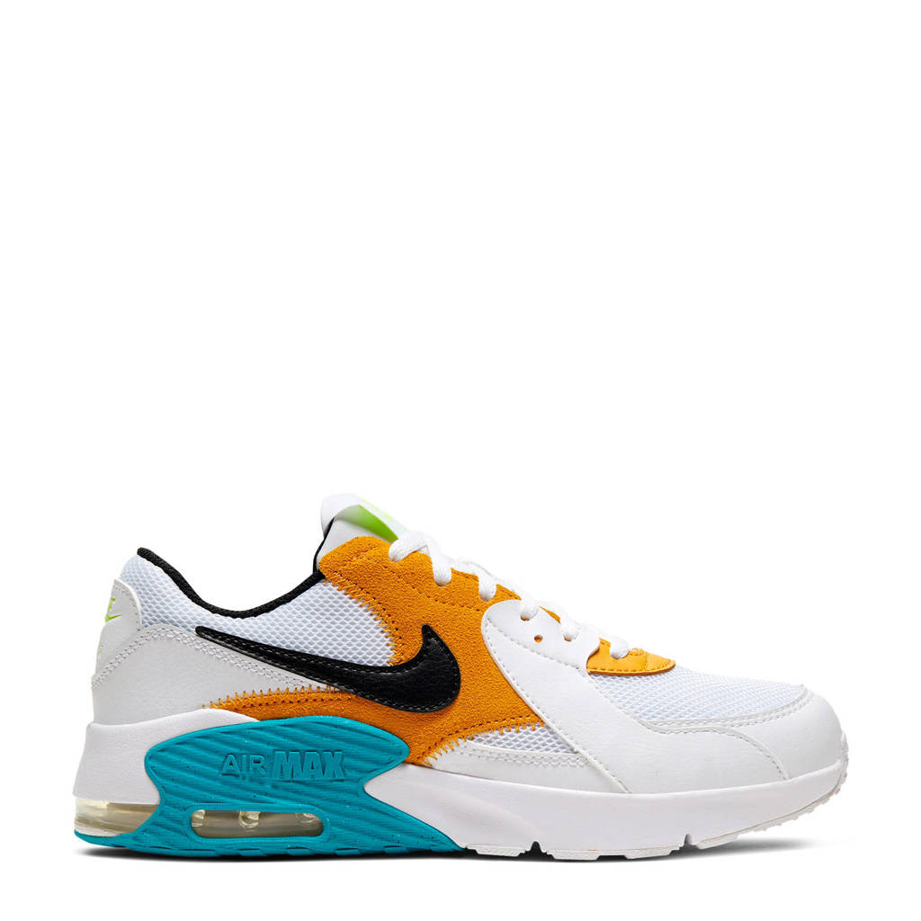 Nike Air Max Excee (GS) sneakers wit/zwart/okergeel, Wit/zwart/okergeel