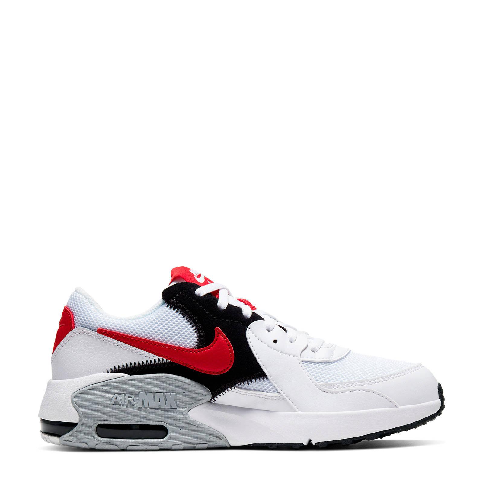 Nike Air Max Excee (GS) sneakers wit/rood/zwart | wehkamp