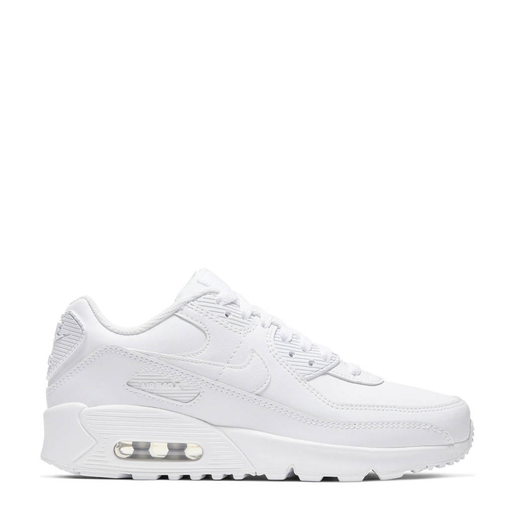 Nike Air Max 90 LTR (GS) leren sneakers wit, Wit