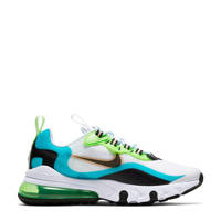 Nike Air Max  270 React SE (GS) sneakers aqua/zwart/limegroen, Aqua/zwart/limegroen