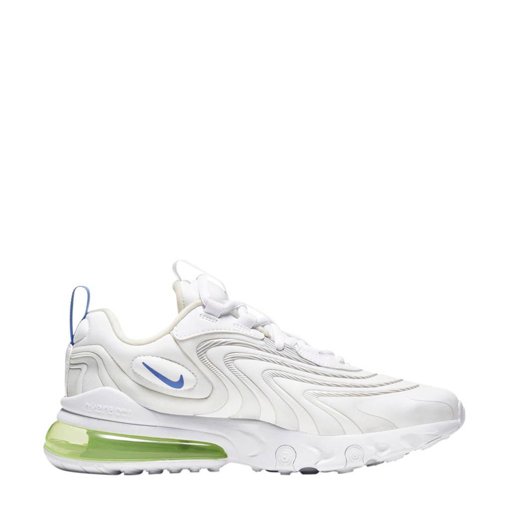 Nike Air Max 270 React ENG sneakers wit/blauw/geel, Wit/blauw/geel