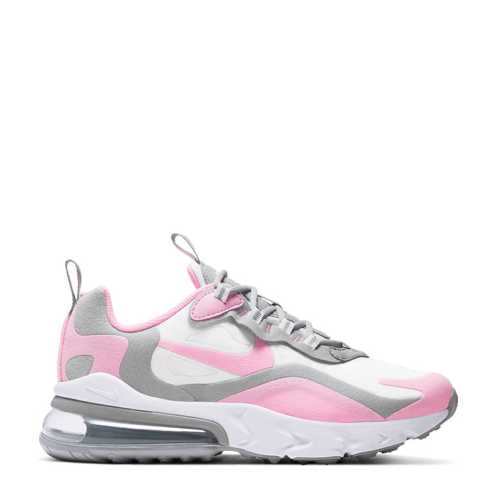 Nike Air Max 270 React sneakers wit/grijs/roze