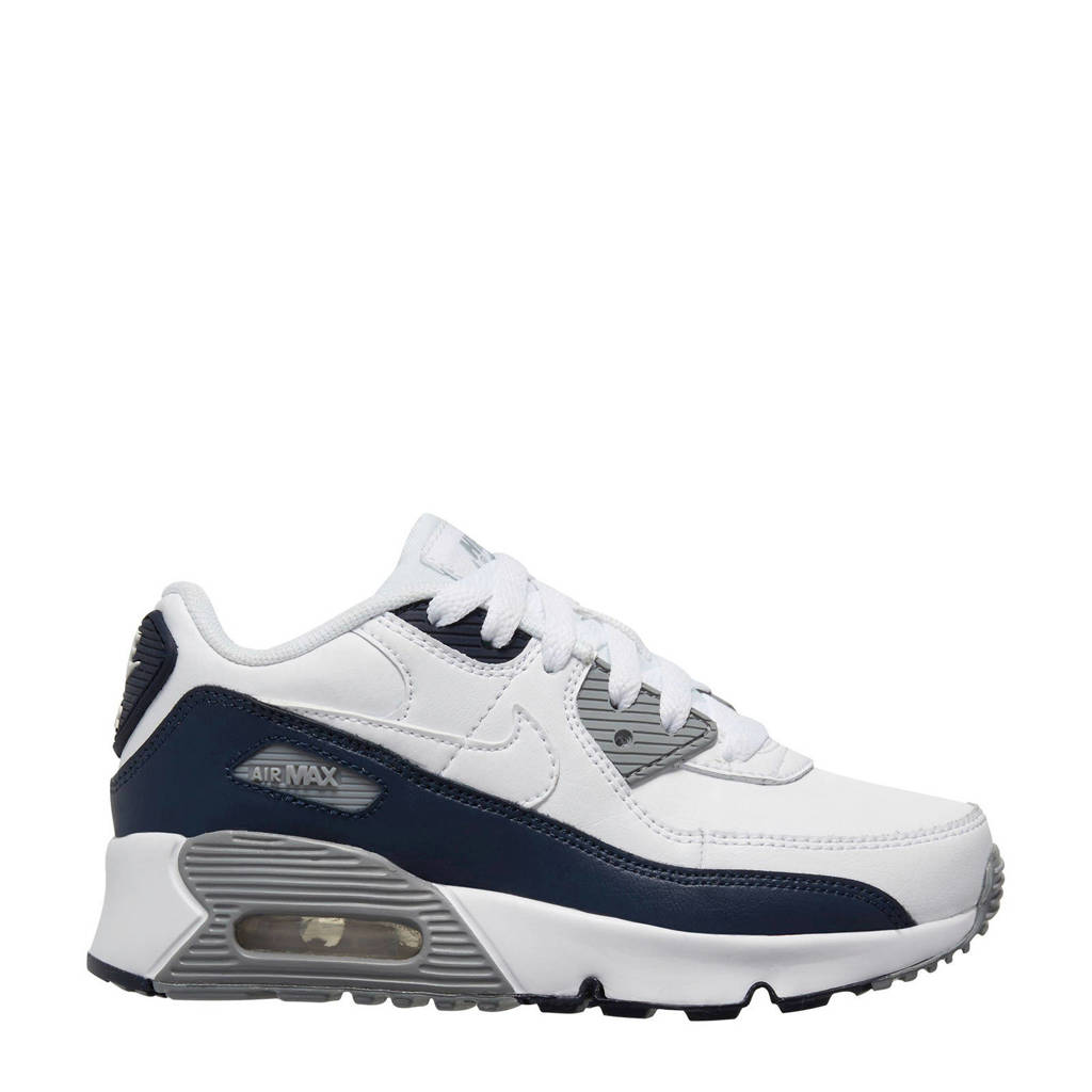 Nike Air Max 90 LTR (GS) sneakers wit/donkerblauw, Wit/donkerblauw