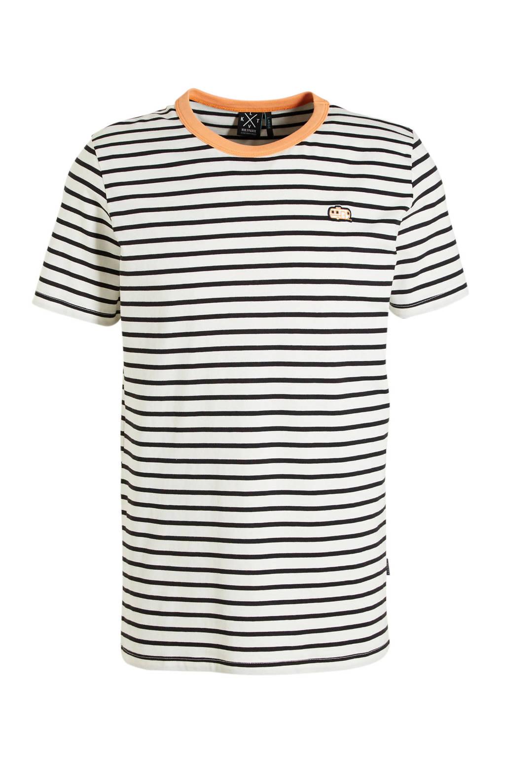 Kultivate gestreept T-shirt ecru, Ecru