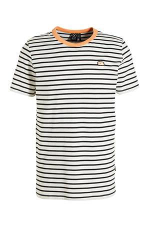 gestreept T-shirt ecru