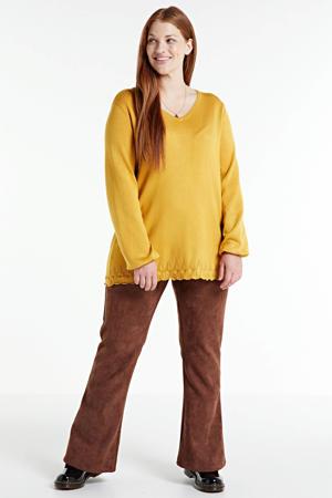 fijngebreide trui KOGLE 510 mustard/0204