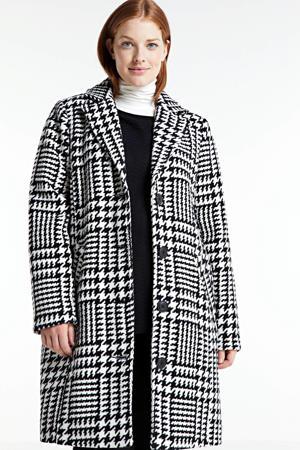 coat tussen HOUN 591 met pied-de-poule wit/zwart
