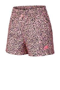 Nike short panterprint multi, Roze/geel/zwart