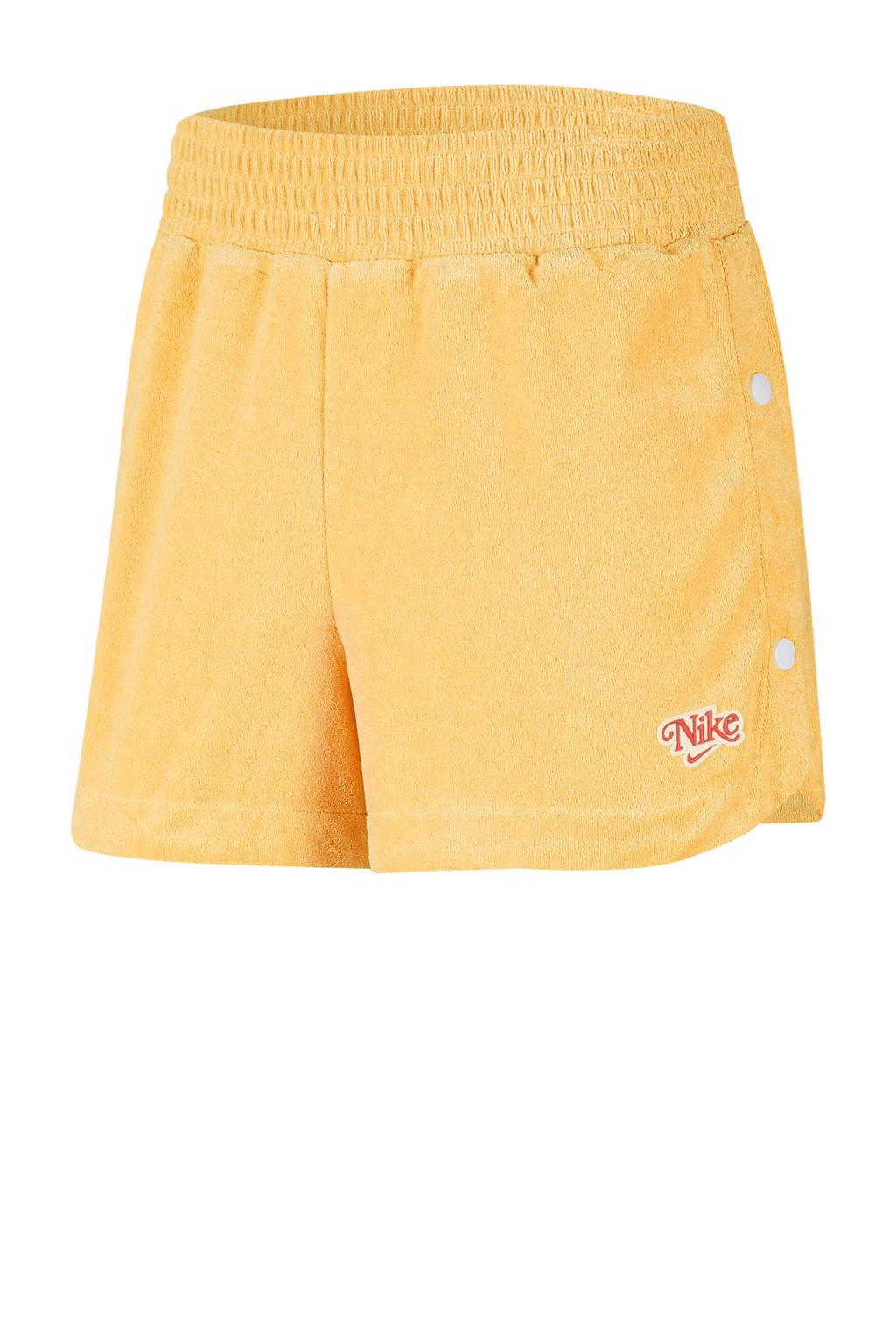 Nike sweatshort geel, Geel