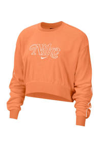 Nike cropped sweater oranje, Oranje