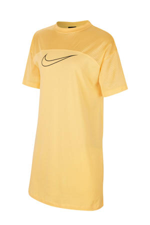 T-shirt jurk geel