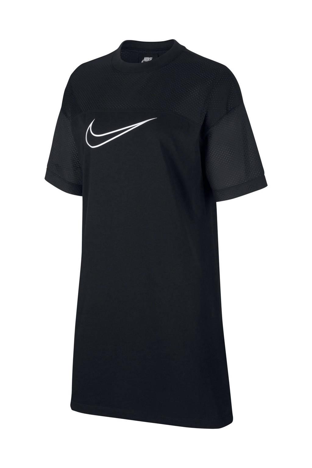 Nike T-shirt jurk zwart, Zwart